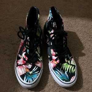 Vans high top Hawaiian print